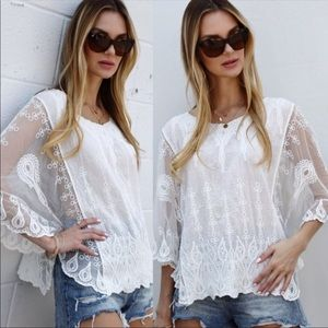 💃🏻Grace Embroidery Poncho Top